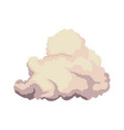 cumulus cloud weather natural meteorology vector image vector image