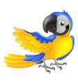 cute blue and yellow parrot vector image vector image