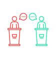 debates between candidates vector image vector image