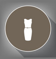 dress sign white icon on vector image