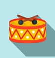 drums toy icon flat style vector image vector image