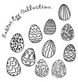 easter egg collection image vector image vector image
