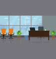 empty modern wide office interior with large vector image