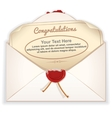 Envelope with Greeting Card vector image vector image