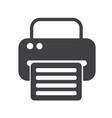 fax web icon vector image