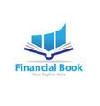 financial book logo designs vector image vector image