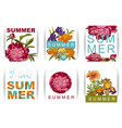 floral background with peonies i love summer vector image vector image
