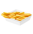 french fries in the disk vector image vector image