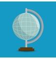 globe eart education online blue background vector image