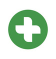 green cross medical symbol vector image vector image