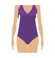 half body purple set bikini one piece vector image vector image