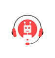 hotline service with chatbot assistant vector image vector image