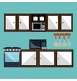kitchen utensils design vector image