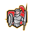 Knight Shield Lance Crest Cartoon vector image vector image