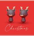 little deer christmas reindeer 3d character vector image vector image