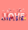 love and loving relations concept cheerful men vector image vector image