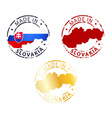 made in Slovakia stamp vector image