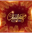 merry christmas elegant design template with vector image