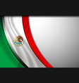 mexico flag background vector image vector image