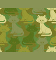 military texture cat army kitten seamless texture vector image vector image