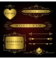 Monogram design elements and page decoration vector image vector image