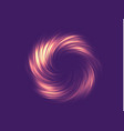 neon abstraction twisted in a spiral vector image vector image