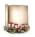 New Year congratulatory background vector image