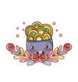 noodles kawaii cartoon vector image vector image