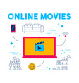 online movie and tv streaming app service concept vector image
