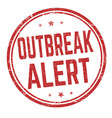 outbreak area sign or stamp vector image vector image