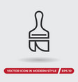 paint brush icon in modern style for web site and vector image vector image