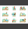 people resting at home relaxing on sofa or vector image vector image