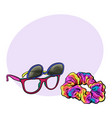 personal items from 90s - sunglasses with vector image vector image