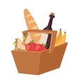 Picnic product basket vector image vector image