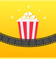 popcorn box film strip rounded movie cinema icon vector image vector image