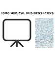 Presentation Screen Icon with 1000 Medical vector image vector image