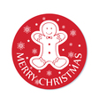 round chistmas greeting with cookie vector image vector image