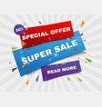 sale banner template and special offer vector image vector image
