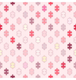 Seamless background with puzzle vector image vector image