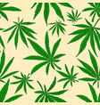 seamless pattern with marijuana leaves design vector image
