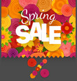 season sale off concept spring floral seamless vector image vector image