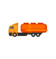 semi truck with orange tank and ladder heavy vector image vector image