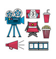 set cinematography scene to entertainment vector image vector image