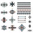 set geometrical tribal elements vector image
