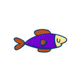 small colorful fish vector image vector image