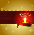 stylish diwali background vector image vector image