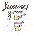 summer yum ice cream box background image vector image