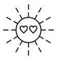 sun love affection icon outline style vector image vector image