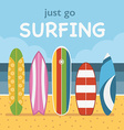 Surfing Travel Landscape vector image vector image