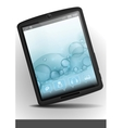 Tablet Pc With Bubble Background vector image vector image